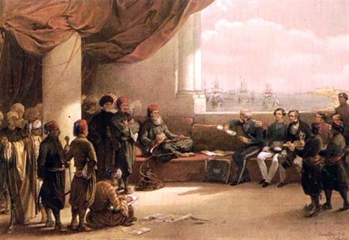 Interview_with_Mehmet_Ali_in_his_Palace_at_Alexandria__1839__by_David_Roberts_600x413